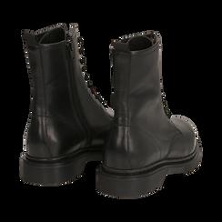 Botas militares de piel en color negro, Primadonna, 167729408PENERO036, 004 preview