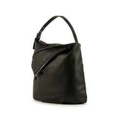 Maxi-bag nera in eco-pelle, Primadonna, 151990171EPNEROUNI, 004 preview