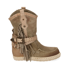 WOMEN SHOES DEMI-BOOT SUEDE TAUP, Primadonna, 15A220102CMTAUP036, 001a