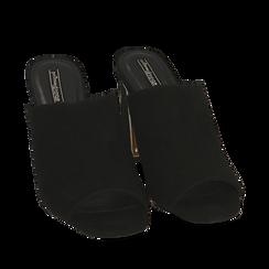 WOMEN SHOES SLIPPER MICROFIBER NERO, Zapatos, 154953062MFNERO036, 002a