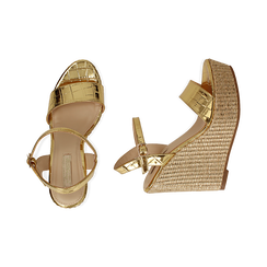WOMEN SHOES WEDGE EP-CROCO OROG, Zapatos, 154983292CCOROG036, 003 preview