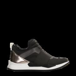 Sneakers nere in lycra con fascia elastica, Primadonna, 121617843LYNERO035, 001a