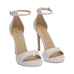 Sandali bianchi, tacco 11,5 cm, Primadonna, 172133410EPBIAN036, 002 preview