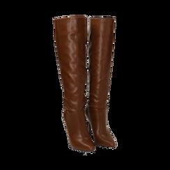 Stivali cuoio, tacco 10,50 cm , Primadonna, 162146862EPCUOI035, 002 preview