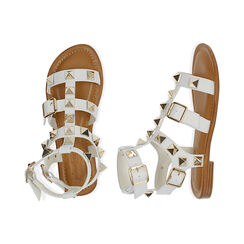 Sandali bianchi cage, Primadonna, 174981022EPBIAN036, 003 preview