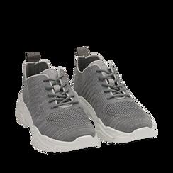 Sneakers grigie in tessuto , Primadonna, 159701163TSGRIG036, 002a