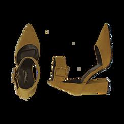 Décolleté gialle in microfibra, tacco 9,50 cm , Scarpe, 144895575MFGIAL040, 003 preview