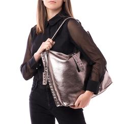 Maxi bag canna di fucile in laminato , Borse, 142409318LMCANNUNI, 002 preview