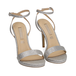 WOMEN SHOES SANDAL GLITTER ARGE, Chaussures, 152127401GLARGE038, 002a