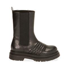 Chelsea boots noires, talon 5 cm , Primadonna, 180611218EPNERO035, 001a