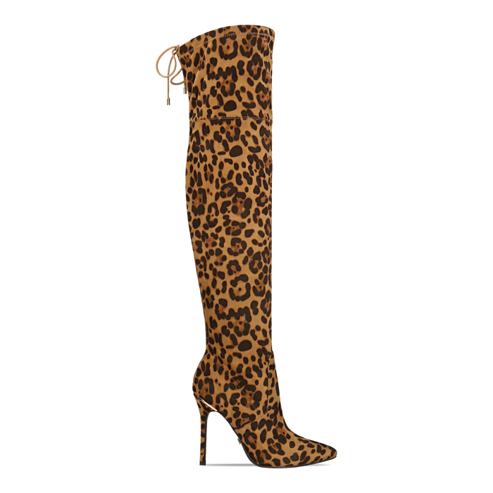 Stivali sopra il ginocchio con tacco 11 cm leopard, Primadonna, 122146868MFLEOP
