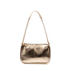 Petit sac porté épaule doré en simili-cuir brillant, Primadonna, 155127201LMOROGUNI, 001a