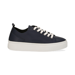 Sneakers blu in eco-pelle, Scarpe, 132500778EPBLUE036, 001 preview
