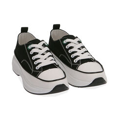 Sneakers chunky nere in canvas, Primadonna, 17K910193CANERO035, 002 preview