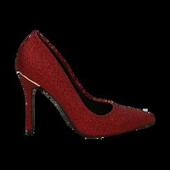 Décolleté rosse in glitter, tacco 11 cm , Primadonna, 142146861GLROSS036, 001 preview