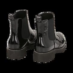 Chelsea boots neri in vernice con lavorazione Duilio, Primadonna, 143055702VENERO039, 004 preview