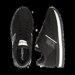 Sneakers nere in tessuto tecnico , Scarpe, 142619079TSNERO036, 003 preview