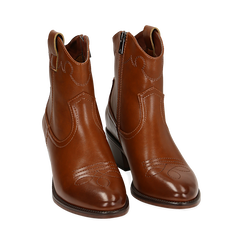 Ankle boots cuoio, tacco 5,50 cm, Primadonna, 150693111EPCUOI036, 002 preview