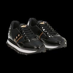 Sneakers nere in vernice, Scarpe, 142619079VENERO, 002 preview