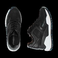 Sneakers nere, zeppa 7 cm , Primadonna, 162800947EPNERO036, 003 preview
