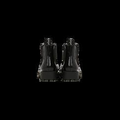 Chelsea Boots neri, punta tonda, Scarpe, 120608573ABNERO, 003 preview