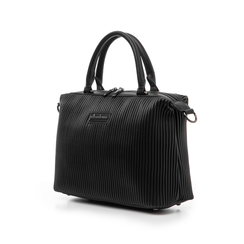 Borsa media nera in eco-pelle, Borse, 14D902917EPNEROUNI, 004 preview