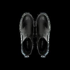 Chelsea Boots neri in vera pelle, Scarpe, 126905552VINERO, 004 preview