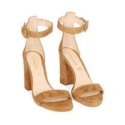 Sandali ruggine in camoscio, tacco 8,5 cm, Primadonna, 15D600501CMRUGG037, 002a