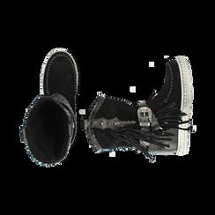 CALZATURA TRONCHETTI CAMOSCIO NERO, Chaussures, 15A220102CMNERO036, 003 preview