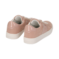 Sneakers nude in microfibra, Scarpe, 152619072MFNUDE035, 004 preview