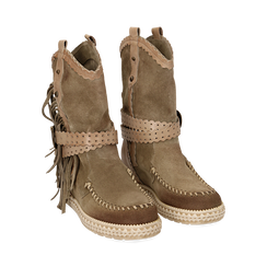 WOMEN SHOES DEMI-BOOT SUEDE TAUP, Primadonna, 15A220102CMTAUP036, 002a