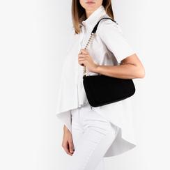 Petit sac porté épaule noir en microfibre, Primadonna, 155127201MFNEROUNI, 002a