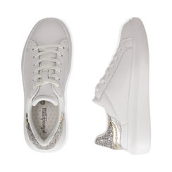 Sneakers bianco/argento, Scarpe, 172602011EPBIAR035, 003 preview