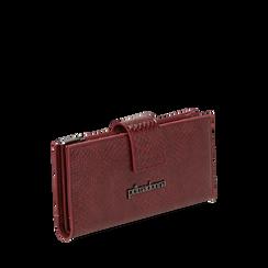 Portafogli bordeaux stampa vipera , IDEE REGALO, 165122158EVBORDUNI, 002a