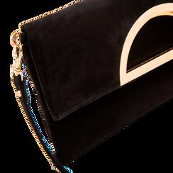 Pochette nera in microfibra scamosciata, Borse, 123308714MFNEROUNI, 003 preview