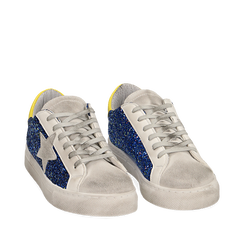 Sneakers blu glitter, Chaussures, 15F999107GLBLUE035, 002a