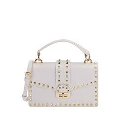 Pequeño bolso blanco con tachuelas, Primadonna, 175122990EPBIANUNI, 001a