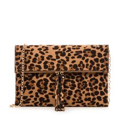 Pochette leopard in microfibra, Borse, 133308136MFLEOPUNI, 001a