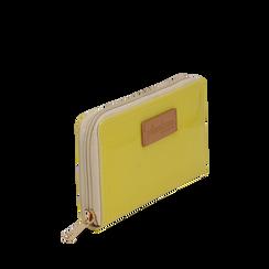 Portafoglio giallo in pvc, Borse, 133732328PVGIALUNI, 002a