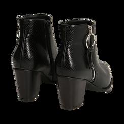 Ankle boots a punta neri, tacco 7,50 cm , Primadonna, 160598319EPNERO035, 004 preview