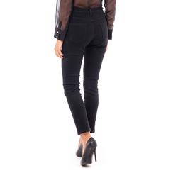 Jeans neri skinny con strappi, Primadonna, 14B411012TSNERO3XL, 002a