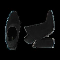 Mules nere in microfibra, tacco 11 cm , Scarpe, 142186941MFNERO036, 003 preview