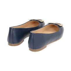 Ballerine blu con fibbia , Scarpe, 174969811EPBLUE035, 004 preview
