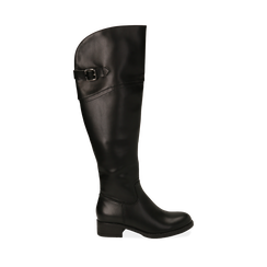 Stivali overknee neri, tacco 4 cm , Primadonna, 160621687EPNERO036, 001a