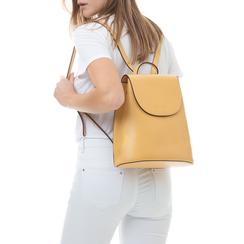 Zainetto giallo in eco-pelle minimal, Borse, 133783137EPGIALUNI, 002a