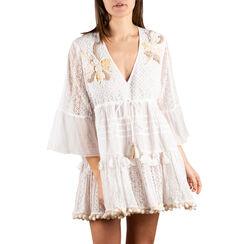 Caftan en tissu blanc, Primadonna, 150504008TSBIANUNI, 001a