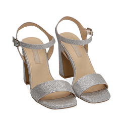 WOMEN SHOES SANDAL GLITTER ARGE, Chaussures, 154821491GLARGE035, 002a
