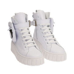 Sneakers bianche in pelle, Primadonna, 17L645608PEBIAN035, 002a