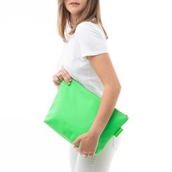 Pochette mare fluo verde in tessuto , Saldi Estivi, 133322281TSVERDUNI, 002 preview