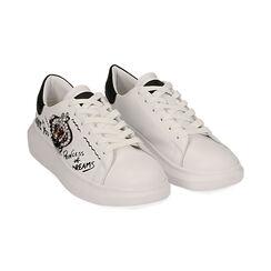 Sneakers nere con corona, Primadonna, 172621011EPBIAN035, 002 preview